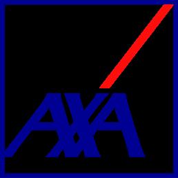 Photo du logo de notre partenaire AXA sur le site de Tholus.fr.