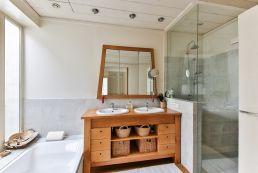 Exemple d'une rénovation de salle de bain.